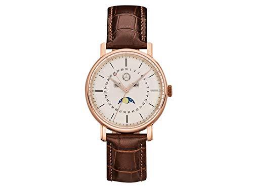 Reloj de Pulsera para Hombre Mercedes-Benz Classic Gold, Color Oro Rosa/marrón, Acero Inoxidable/Piel de Becerro