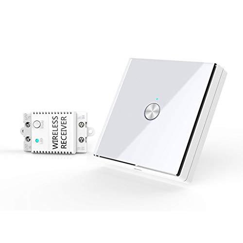 Interruptor de luz inalámbrico de 1/2/3 Gang, impermeable, con control remoto, sin...