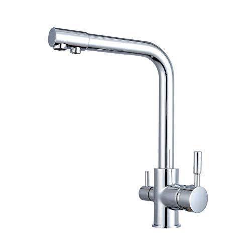 Moen Deck Mount (LOSKDMMJIO Wasserhahn-Küche Faucet Deck Mount Chrome Bad Wasserhahn Gefäß Spül-Armaturen-Tap Kalte Und Heiße Wasserhähne [Energieklasse A])