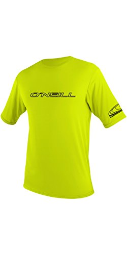 ONEILL WETSUITS O'Neill Wetsuits Herren Basic Skins S/S Tee Rash Vest, Lime, S