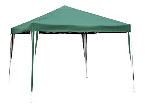KitGarden - Carpa Plegable 3x3 Jardín, 300x300x260 cm, Verde/Blanco, Deluxe 3x3