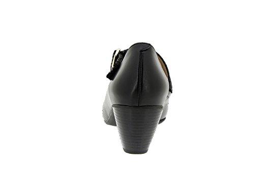 Chaussure femme confort en cuir semelle Piesanto 5403 basse casual comfortables amples Negro / Negro