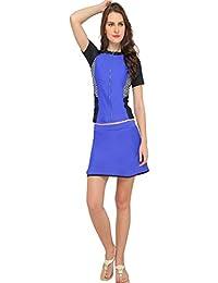 Nidhi Munim Women's Sporty Blue Tankini With Skirt