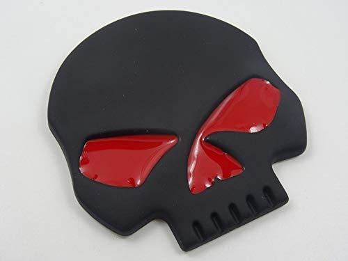 GGZZLL Auto Aufkleber Persönlichkeit Schädel Refit Metall Spaß Halloween Dekoration Aufkleber, schwarz