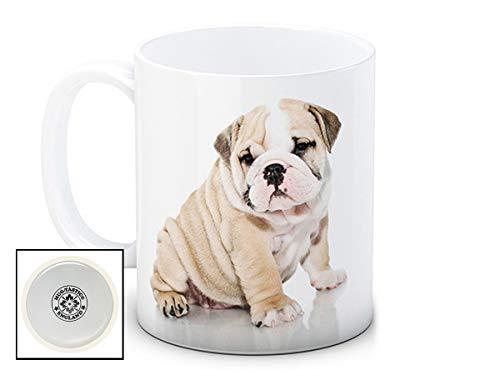 British Bulldog chien chiot - de haute qualité tasse à thé café