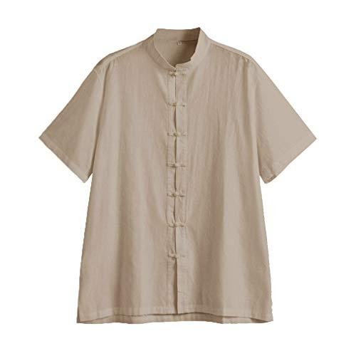 Btruely Herren T-Shirt V-Ausschnitt Freizeithemd Groß Größe Oberteile Männer Hemden Henley Shirt Sommer Yoga T-Shirt Strand Basic ()