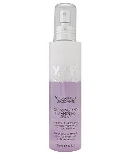 Yuup Scioglinodi Lucidante - Spray bifasico, trattamento districante ideale per manti lunghi, per cane o gatto