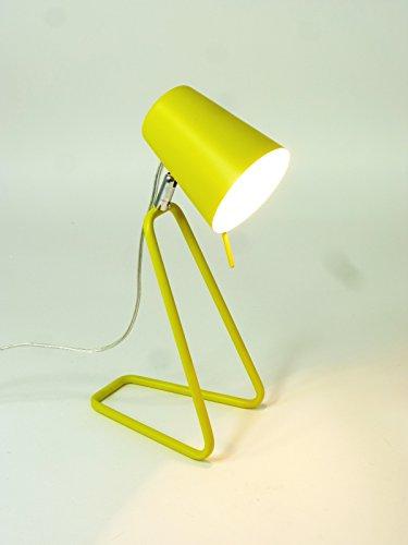 Farbenfrohe Tischleuchte Tischlampe Rose Arbeitsleuchte Schreibtischleuchte Lampe Leuchte E14 Nachttischleuchte Kinderleuchte (gelb)