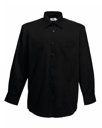 fruit-of-the-loom-mens-long-sleeve-poplin-shirt-2xl-black