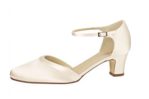Elsa Coloured Shoes, Scarpe col tacco donna Bianco (Weiß/White)