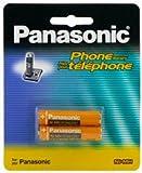 Panasonic Original Ni-MH Akkus, wiederaufladbar, für das Panasonic KX-TG2511ET, KX-TG2512ET und KX-TG2513ET DECT Digitale Telefonset (kabellos), Schwarz