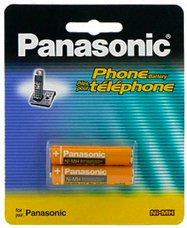 Telefon Panasonic Akku (Panasonic Original Ni-MH Akkus, wiederaufladbar, für das Panasonic KX-TG2511ET, KX-TG2512ET und KX-TG2513ET DECT Digitale Telefonset (kabellos), Schwarz)