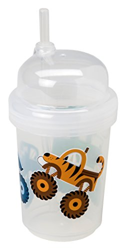 nuSpin Kids 8 oz Zoomi Straw Sippy Cup, Monster Trucks Style
