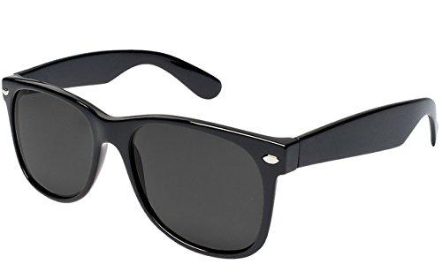 UVprotect Sonnenbrille Wayfarer Design UV400 W02 Schwarz3