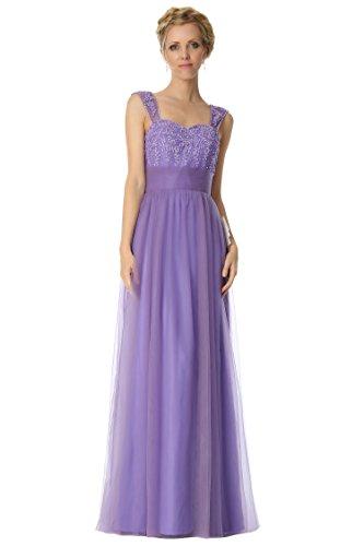 SEXYHER Perlen Dekoration Regular Straps Brautjungfern Festliche Abendkleid -EDJ1830 Orchid-23C