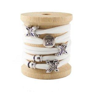 braccialetto-moda-in-tessuto-lycra-bianco-e-inserti-in-metallo-fantasia-farfalla