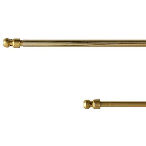 Coppia bastoncini a pressione in alluminio regolabili da 40 a 60 cm Oro L994