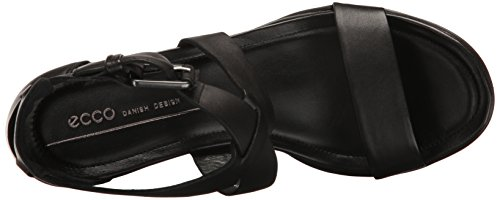 Ecco Shape 65 Block Sandal, Sandales Bout Ouvert Femme Schwarz (1001BLACK)