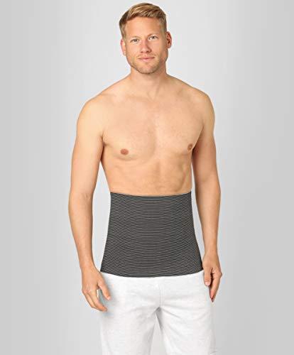 ®BeFit24 Nierengurt für Damen und Herren - Nierenwärmer - Wärmegürtel - Rückenwärmer - [ Size 6 - Schwarz/Weiß ]