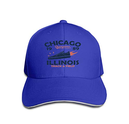 Unisex Adult Baseball Cap Trucker Hat Cowboy Hat Hip Hop Sports Snapback Chicago Illinois Track Field Athletics Typography Sneaker fire Blue