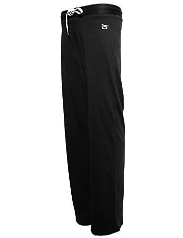 Pantalon Jogging Femme Djaneo Brasilia Coton (Noir et Blanc, L)