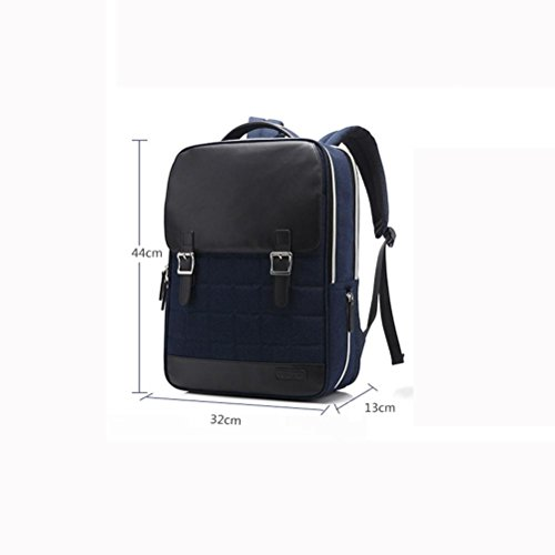Affari zaino 14 pollici Laptop Zaini nylon multifunzione Daypack , black , 45*12.5*31cm black