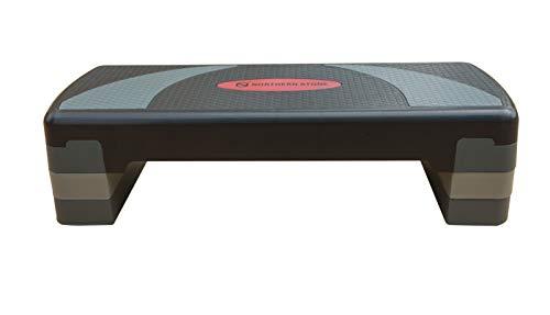 Northern stone step da aerobica regolabile in altezza con 3 livelli di fitness di altezza 10cm 15cm 20cm