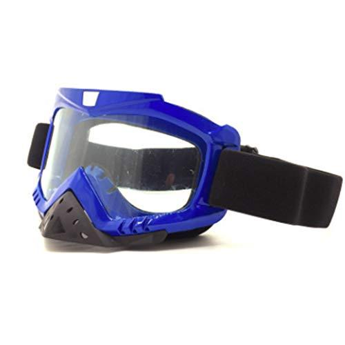ZMYLOVE Motorradbrillen, Ski Snowboardbrillen PU-Harz Winddicht staubdicht Fahrradbrillen Schutzsicherheit Off-Road-Schutzbrillen,Chrome
