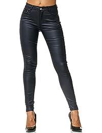 Dames Treggings Pantalon Cuir Optique Cuir Imitation Cuir Skinny D2476 92c748c636f5