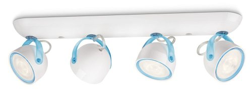 Philips myLiving LED Spotbalken Dyna 4-flammig, blau