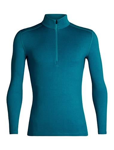 Medium Long Sleeve Top (Icebreaker Herren Merino Tech Heavyweight Base Layer Half Zip Pullover Top, Merinowolle, Herren, Men's 260 Tech Long Sleeve Half Zip, Alpine, Medium)