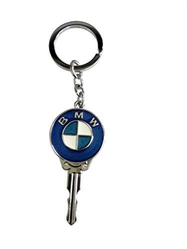 BMW Key Shape Blue Metal Key Chain  available at amazon for Rs.165