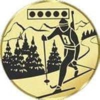Durchmesser 50 mm Durchmesser Motiv Biathlon S.B.J Sportland Pokal//Medaille Emblem