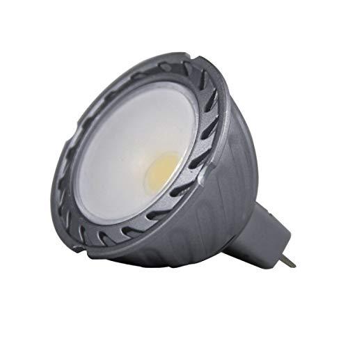 Dicroica GU5.3 LED COB 8W 12V 100º Luz cálida 3000K de alta luminosidad 700 Lm. en gris oscuro