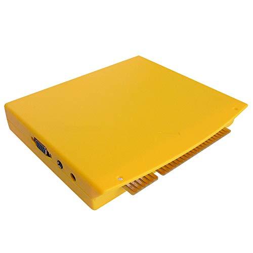WOVELOT Multi Spiel Gelb Box 5 S 1299 in 1 für Jamma PCB Board Cga Vga für DIY Arcade Kabinett Maschine Video Arcade Board Patrone Kit (Video-arcade-maschinen)