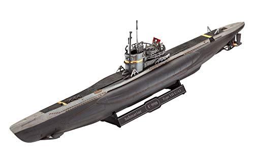 Revell 05154 12 Modellbausatz German Submarine Type VII C/41 im Maßstab 1:350, Level 4, U-Boot, Maßstabsgetreue Nachbildung, Länge 19,2 cm