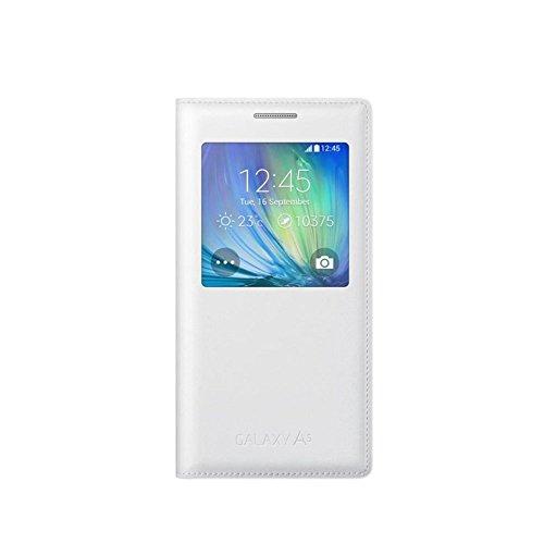 Samsung EF-CA500BWEGWW S View Cover per Galaxy A5, Bianco
