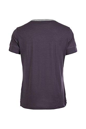 super.natural Herren M Comfort Henley Merino Sport und Freizeitshirt Grey Brown/Ash Melange