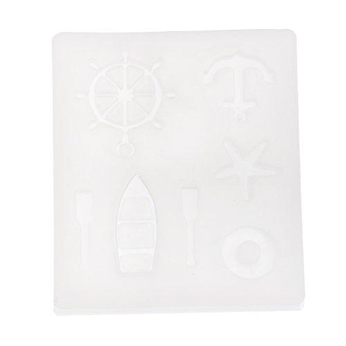 D DOLITY 3d Silikonform Sea Wind Serie Ruder Silikonform Fondant Mold Cupcake Dekoration, Soap Mold Kerze DIY Mold (Soap Mold Quadrat)