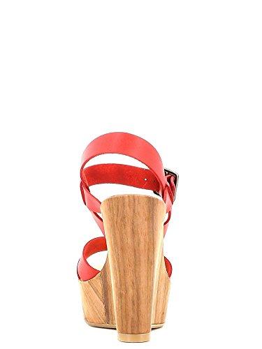 Fornarina PEFBX8943WHA7600 Sandalo zeppa Donna Rosso