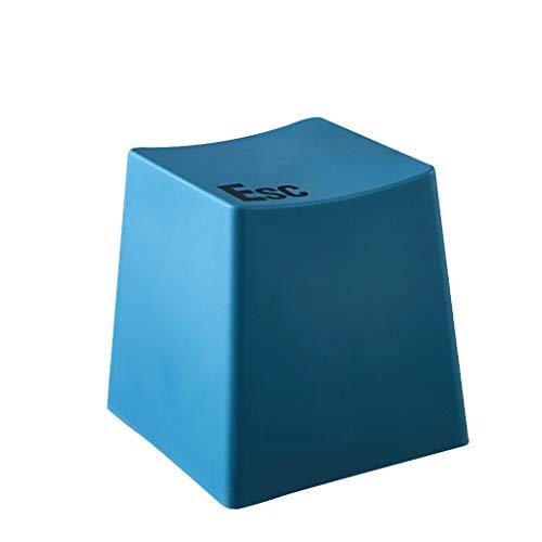 LXQGR Schlafzimmer Stuhl, einfache Moderne Stil, Mode kreative Tastatur hocker einfache Moderne Toilette hocker fußhocker couchtisch vorne niedrigen hocker Hause dicken plastikhocker (Color : Blue)