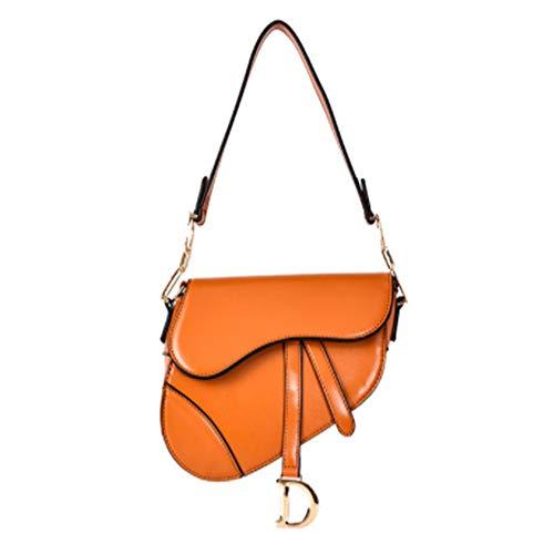 TWW Handtasche Schulter satteltasche, Gute qualität, tragbar, atmungsaktiv, lichtecht, geeignet für Frauen Party Partys auf geschäftsreisen - Tan Satteltasche