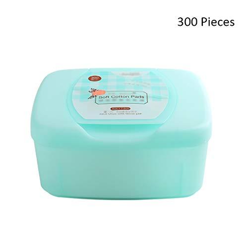 300 pcs Extractive Organique Démaquillants pour Le Visage Doux Tampons Démaquillants Cosmétiques Lingettes pour Le Visage Masque Soins Nettoyage des Cotons (Color : Blue, Taille : 7.5 * 5cm)