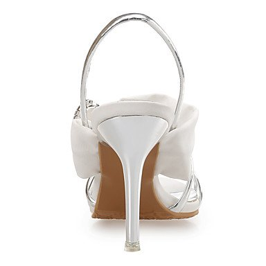 LvYuan Da donna-Sandali-Matrimonio Formale Serata e festa-Club Shoes-A stiletto-Di pelle Seta Lustrini-Blu Bianco White