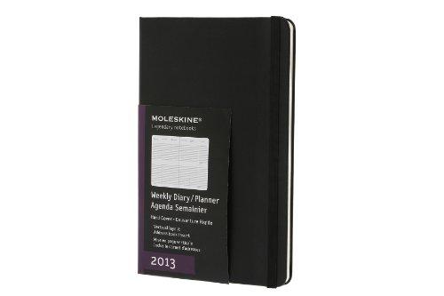 Moleskine Large Diary Weekly Vertical 2013: Die ganze Woche auf zwei Seiten...