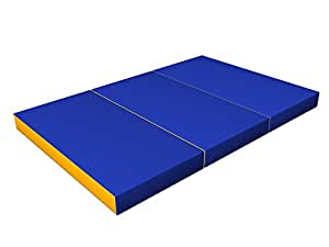 enfant matelas de gymnastique pliable bleu jaune matelas. Black Bedroom Furniture Sets. Home Design Ideas