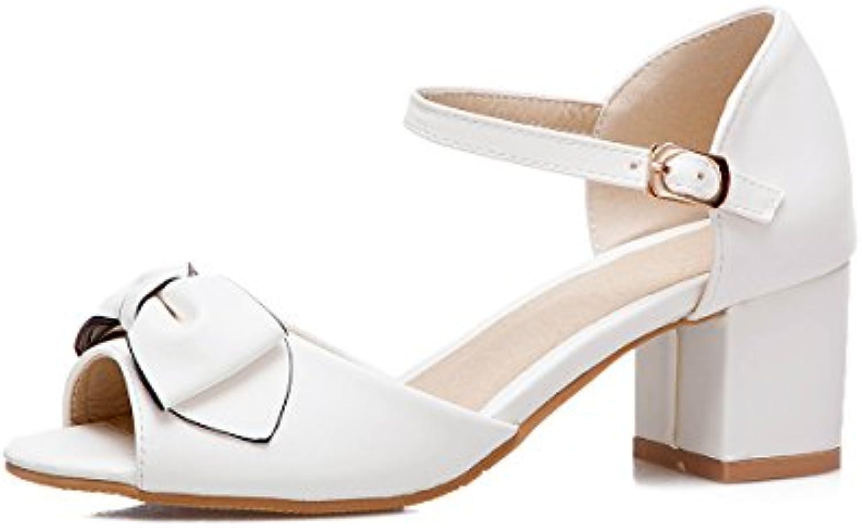 des chaussures en cuir fantaisie, printemps été été été de confort sandales chunky talon ouvert toe boucle pour mariage et...b07cz4sdqt parent | Une Forte Résistance à La Chaleur Et Résistant à L'usure  a301b4