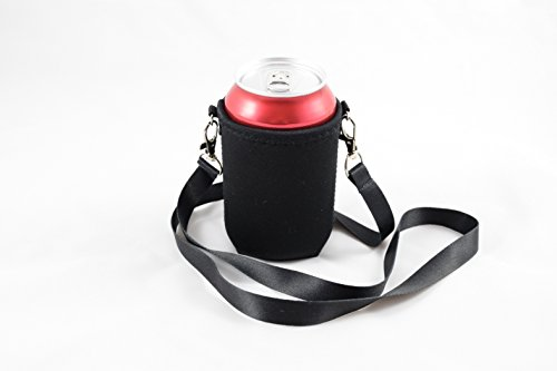 BeerHolder - Dosenhalter für den Hals, Dosenhalterung inkl. Halstrageband, Glashalter, Flaschenhalter (Lanyard)