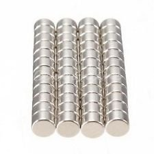 Sonal Magnetics Nickel Coated Magnet Dia. 10mm x 5mm Thk. - 15 Pcs.