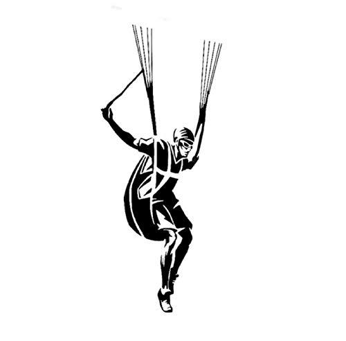 Auto-Dekor,Interessanter Fallschirm 8x18cm Benutzerdefinierte PVC DIY Auto Motorrad Aufkleber Kunst Zubehör Kreative Spiel Stil Fenster Helm Aufkleber Geburtstagsgeschenk 5 Stücke